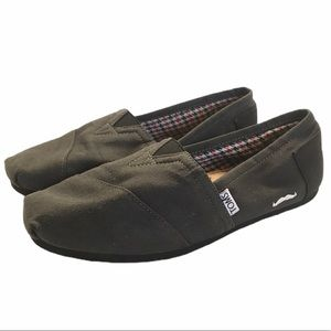 Toms Movember Grey/Black Mustache Edition Flats